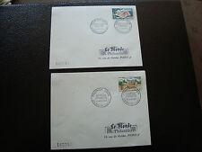 FRANCE - 2 enveloppes 1er jour (le monde des philateliste) 1963 (cy43) french