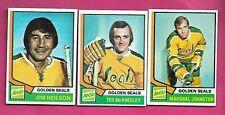 1974-75 TOPPS SEALS NEILSON + JOHNSTON + MCANEELEY EX-MT  CARD (INV# C2963)