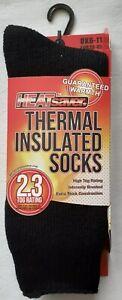 Mens - HeatSaver - Thermal Insulated Socks - 2.3 Tog - Black - 6-11 - Brand New