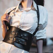 Women Sexy Waist Bondage Garter Belt Leather Harness Goth BDSM Suspender Costume