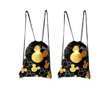 Mickey Mouse drawstring backpack Gold 2 pack