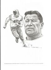 Robert Riger drawing of Jim Thorpe Equitable Life print 7 3/4 x 11