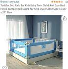 Cozy Casa Mesh Bed Rail Toddler Child Baby Kids Guardrail Size 1.5M Blue White