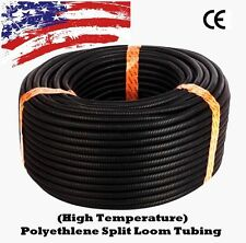 "1/8"" 1/4""  3/8"" 1/2"" 5/8"" 3/4"" 1"") 1 - 100 FT Split Wire Loom Conduit Tubing LOT"