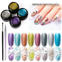 MTSSII 5ML UV Nail Mirror Metal Painting Polish Gel Soak Off Manicure Tool Kit