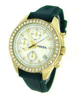 FOSSIL CHRONOGRAPH SILICONE 100M LADIES WATCH ES2965