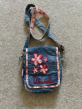 Pretty Vintage Animal Denim And Pink Shoulder Bag With Matching Detachable Purse