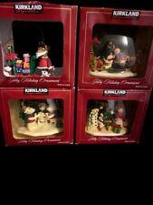 Kirkland signature Collectible Gift Ornaments Christmas Holiday Santa Lot Of 4
