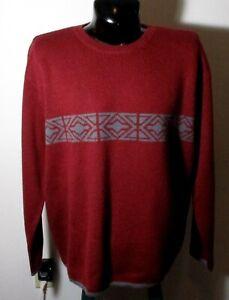 Men's EASTERN MOUNTAIN SPORTS Burgundy 100% Wool Sweater Size XL