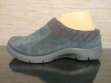 DANSKO Emily Womens 39 /US 8.5 - 9 Steel Blue Suede Knit Mule Comfort Shoes