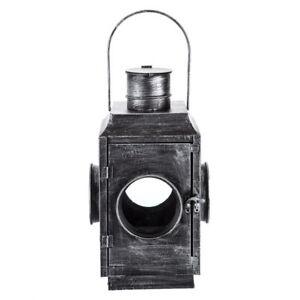 Classic Industrial Brushed Metal Lantern