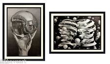 M.C.Escher Art Set of 2 Prints Highest Quality Custom Framing