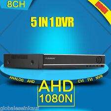 5 IN 1 TVI 8CH AHD 1080N HDMI H.264 CCTV DVR NVR 1080P Netzwerk Videorecorder