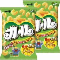 Meiji Japan Curl Corn Chips Cheese Flavor Japanese Snack 64g × 2 Bags