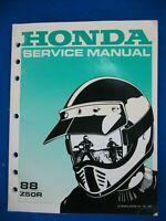 Honda 1988 Z50R BRAND NEW Factory Service Shop Manual H81