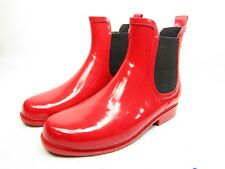 Seven 7 Jet Stream Ankle Rain Boots Fire Red Size 6