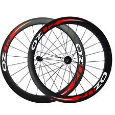 Carbon Wheels Road Bike Bicycle Race Wheelset 700C OZUZ 50mm Depth Clincher