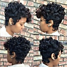 Short Curly Wig Black Hair African American Wig For Black Women Fashion New POP