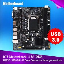 Pour Intel B75 Socket LGA 1155 Carte mère Mainboard SATA DDR3 USB 3.0 VGA HDMI