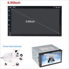 "6.95""2 din Car Radio Double DVD Player GPS Navigation In dash Video Free Map EU"