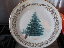 Lenox Annual Limitd edition Christmas plate 1978 blue spruce 22k gld plated rim