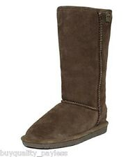 BEARPAW BIANCA Tall Sheepskin Winter Boots Womens 5 Chocolate NEW IN BOX