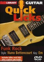 LICK LIBRARY Learn to Play QUICK LICKS NUNO BETTENCOURT Funk Rock GUITAR DVD
