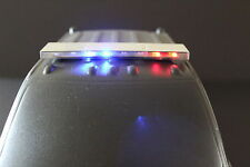 RC 1/10 Scale Police LED Light Bar Metal Red and Blue with Amber