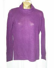 NWOT Womens Marina Luna 100% 2 Ply Pure Cashmere Purple Sweater Sz. Small ExcCd