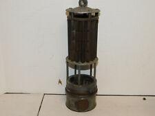 Vintage Wolf German Flame Safety Miner's Lamp Bureau of Mines