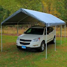 10' X 20' King Canopy Frame Replacement Cover Top - Silver,