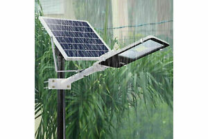 Lampione per esterni con pannello fotovoltaico solare IP65 196 LED 100W dimmer