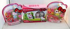 Hello Kitty Flocked Figures and Swing, Rainbow Dream, Sweet Cakes Lot of 3
