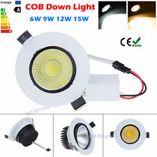 COB Dimmable 6W 9W 12W 15W LED Downlight Recessed Ceiling Light Bulb Kitchen Set