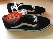 Vans Old Skool Trainers Shoes Black White in UK Size 6 Suede canvas 1145d8ff3