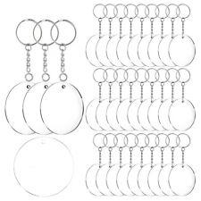 Acrylic Keychain Blanks, 60 Pcs 2 Inch Diameter Round Acrylic Clear Discs C Q9D7