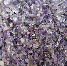 100 Grams. AA++ HIMALAYAN AMETHYST CRYSTAL TUMBLED CHIPS / GRANULES. 2mm to 12mm