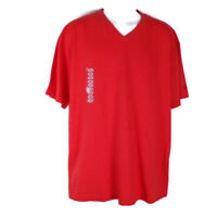 Mens Spalding Tee Shirt L Color Orange Short Sleeves V Neck