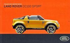 LAND ROVER DC100 SPORT Concept Car Studie Prospekt Sheet +++++++++++++++++++++++