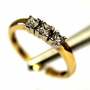 14k yellow gold .86ct princess diamond wedding band ring 3.1g womens vintage SI1