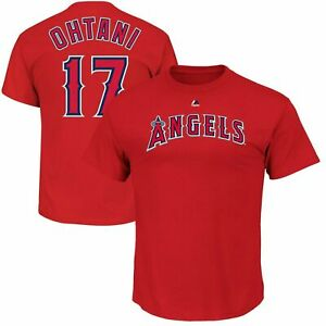 Shohei Ohtani Los Angeles Angels Majestic YOUTH Name & Number T-Shirt Size L