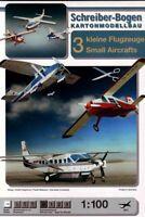 Schreiber-Bogen Card Modelling 3 Small Aircrafts 1:100