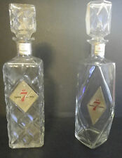 Two Vintage Seagram 7 Decanters