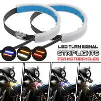 Motorrad LED Strip Lichtleiste Blinker Rücklicht Bremslicht Signallampe Birne