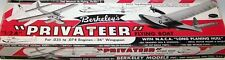 """Berkeley PRIVATEER PLAN + PARTS PATTERNS for 36"""" Span 1/2A RO RC Model Airplane"""