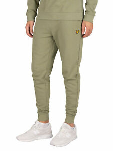 Men/'s Lyle And Scott Cotton Tapered Leg Skinny Sweatpant in Green