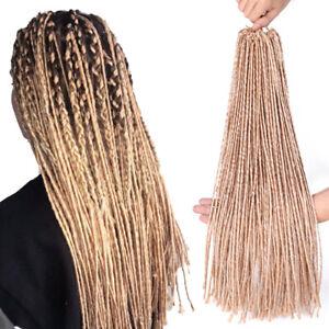 "20"" Thin Ombre Goddess Faux Locs Twist Braids Afro Dreads Crochet Hair Extension"