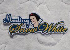 Disney Meeting Snow White Die Cut Title Scrapbook Paper Piece - Ssffdeb