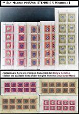 ** San Marino 1945 1946: STEMMI  [Minifogli; MNH] Serie e Singoli