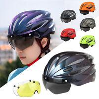 Fahrradhelm Herren Damen Fahrrad Helm BMX MTB Road Helm mit Schutzbrille Visier